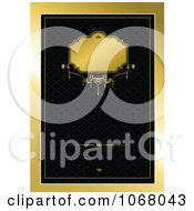 Clipart Ornate Gold And Black Background 3 Royalty Free Vector Illustration