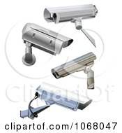 Clipart Security Cameras Royalty Free Vector Illustration