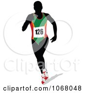Clipart Female Runner 1 Royalty Free Vector Illustration by leonid