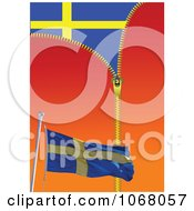 Clipart Sweden Flag Background Royalty Free Vector Illustration