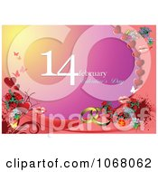 Clipart Valentines Day Background 2 Royalty Free Vector Illustration
