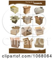 Clipart Cardboard Boxes 3 Royalty Free Vector Illustration