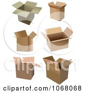 Clipart Cardboard Boxes 2 Royalty Free Vector Illustration