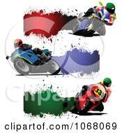 Clipart Grungy Motorcycle Website Banners Royalty Free Vector Illustration by leonid