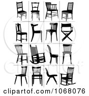 Clipart Silhouetted Chairs Royalty Free Vector Illustration