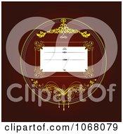 Clipart Ornate Invitation Background 5 Royalty Free Vector Illustration