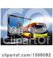 Clipart City Bus Background 9 Royalty Free Vector Illustration by leonid