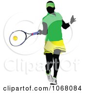 Clipart Tennis Woman 3 Royalty Free Vector Illustration