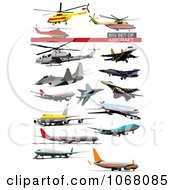 Clipart Airplanes 2 Royalty Free Vector Illustration