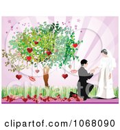 Clipart Valentines Day Wedding Background 5 Royalty Free Vector Illustration