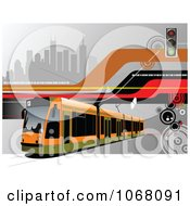Clipart Tram Bus Background 1 Royalty Free Vector Illustration by leonid