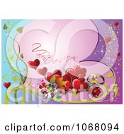 Clipart Valentines Day Background 4 Royalty Free Vector Illustration