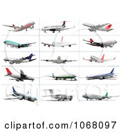 Clipart Airplanes 1 Royalty Free Vector Illustration