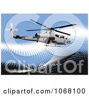 Clipart Helicopter Background Royalty Free Vector Illustration
