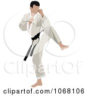 Clipart Martial Artist 1 Royalty Free Vector Illustration