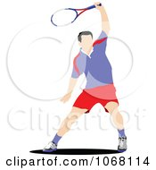 Clipart Tennis Man 3 Royalty Free Vector Illustration