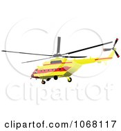Clipart Helicopter 1 Royalty Free Vector Illustration