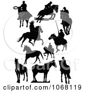 Clipart Horse Silhouettes 2 Royalty Free Vector Illustration by leonid