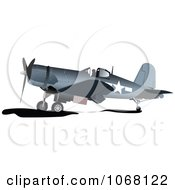 Clipart Vintage Airplane Royalty Free Vector Illustration