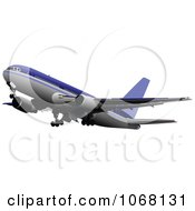 Clipart Airbus 8 Royalty Free Vector Illustration