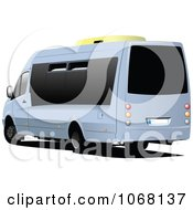 Clipart Mini Tour Bus Royalty Free Vector Illustration by leonid