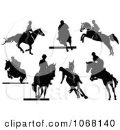 Clipart Horse Silhouettes 3 Royalty Free Vector Illustration by leonid