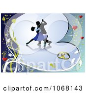 Clipart Dancers On A Blue Heart Royalty Free Vector Illustration by leonid