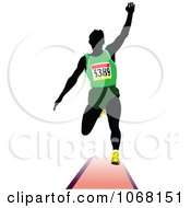 Clipart Male Runner 1 - Royalty Free Vector Illustration by leonid #COLLC1068151-0100