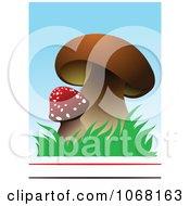 Clipart Mushroom Background Royalty Free Vector Illustration