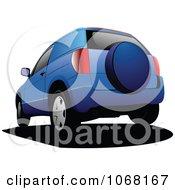 Clipart Blue Minivan Royalty Free Vector Illustration by leonid