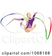 Clipart Female Gymnast 7 Royalty Free Vector Illustration