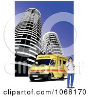 Clipart Ambulance Background 5 Royalty Free Vector Illustration