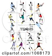 Clipart Tennis Players 1 Royalty Free Vector Illustration