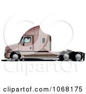 Clipart Logistics Big Rig Truck 2 Royalty Free Vector Illustration