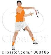 Clipart Tennis Man 2 Royalty Free Vector Illustration