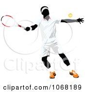 Clipart Tennis Man 1 Royalty Free Vector Illustration