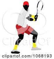 Clipart Tennis Man 4 Royalty Free Vector Illustration