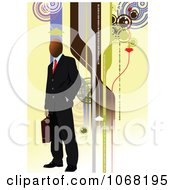 Clipart Businessman Background 2 Royalty Free Vector Illustration
