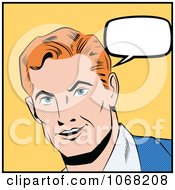 Clipart Pop Art Styled Talking Man Royalty Free Vector Illustration by brushingup #COLLC1068208-0171