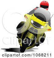 Clipart Biker On A Motorcycle 6 Royalty Free Vector Illustration by leonid #COLLC1068211-0100