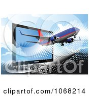 Clipart Airbus Background 7 Royalty Free Vector Illustration