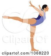 Clipart Female Gymnast 5 Royalty Free Vector Illustration