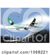 Clipart Airbus Background 2 Royalty Free Vector Illustration