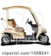 Clipart Golf Cart 2 Royalty Free Vector Illustration