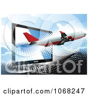 Clipart Airbus Background 6 Royalty Free Vector Illustration by leonid