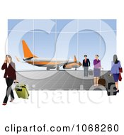 Clipart People In An Airport Royalty Free Vector Illustration