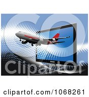 Clipart Airbus Background 4 Royalty Free Vector Illustration