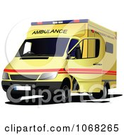 Clipart Ambulance 2 Royalty Free Vector Illustration