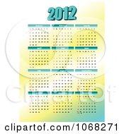 Clipart 2012 Calendar 3 Royalty Free Vector Illustration