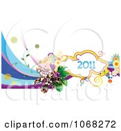 Clipart 2011 New Year Background 5 Royalty Free Vector Illustration